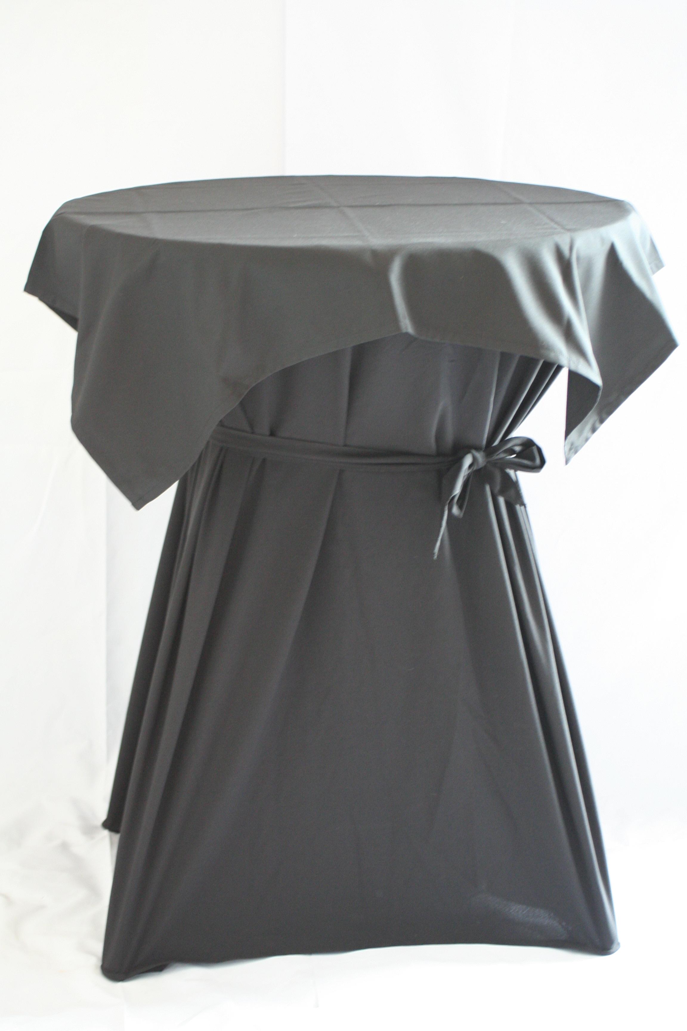 Kleed Voor Statafel.Tafelrok Met Afdek Kleed Zwart Voor Statafel